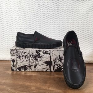 Vans Unisex Marvel Slip-On Shoes-Black Widow